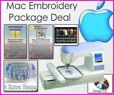 New Mac Embroidery Deal BROTHER PE-770 DZ820 EMBROIDERY MACHINE + Software