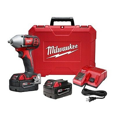 """Milwaukee 2658-22 M18 3/8"""" Impact Wrench Kit with Friction Ring"""