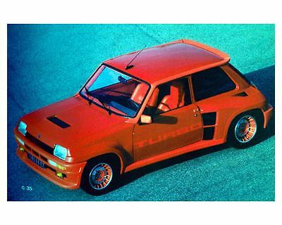 1980 Renault R5 Turbo Automobile Photo Poster zuc7296