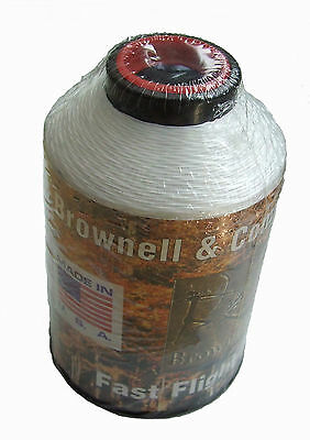 New Brownell Fast Flight Plus 100% HMPE Archery Bow String Material White 1/4lb