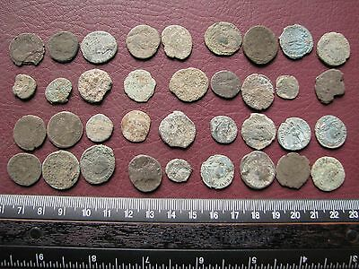Lot of 36 Authentic Ancient Roman Coins   Mostly 3rd to 5th Centuries A.D. 12311