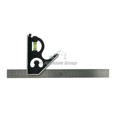 "300mm/ 12"" Carpenters Square Moore and Wright Adjustable Combination Set Square"