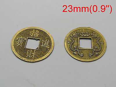 "50 Feng Shui Coins 23mm 0.9"" Lucky Chinese Fortune Coin I Ching"