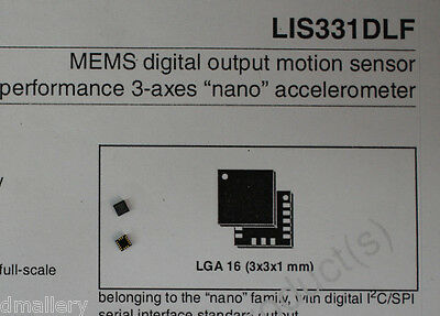 NEW ST LIS331DLF 3 axis accelerometer QTY: 2        Ship in USA Tomorrow!