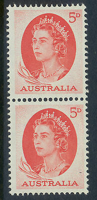 Stamps Australia 5d red QE2 definitive coil perforation, MUH