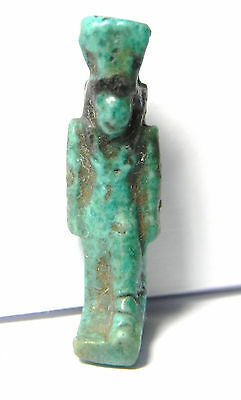 Zurqieh - Ancient Egypt Nice Faience  Amulet 600 B.c