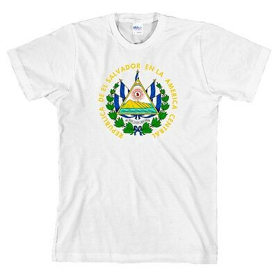 El Salvador Coat of Arms T Shirt Latin America Tee ALL SIZES & NEW