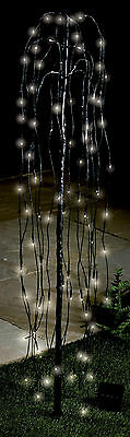 Solar Powered Willow Tree With 80 White Lights/Christmas Lights/Tree/Garden