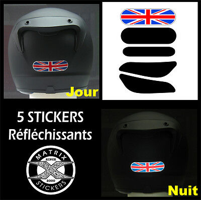 5 Stickers RETRO-REFLECHISSANTS pour CASQUE - mod.5 TRIUMPH Street Speed Triple