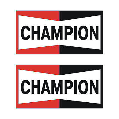 Stickers plastifiés CHAMPION - 10cm x 5cm