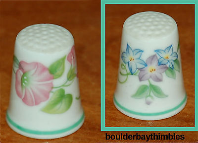 """TCC ROYAL WORCESTER """"Country Garden"""" Thimble 1986 ENGLAND"""