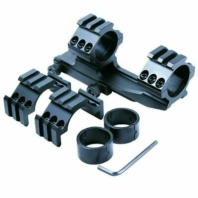 "30mm / 1"" PEPR Cantilever Rifle Scope Mount w/ Reducer Inserts & Tri-rail Rings"