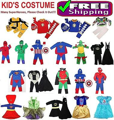 NEW Size 1~14 KIDS COSTUMES BOYS DRESS UP PARTY SUPERHERO BATMAN COSTUME TOYS