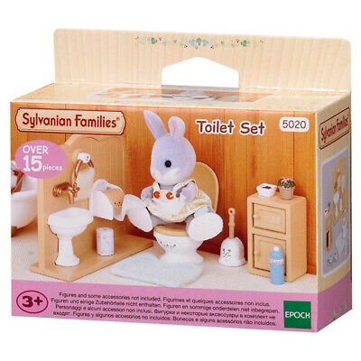Sylvanian Families Toilet Set Doll House Miniatures NEW