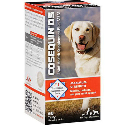 Nutramax Cosequin DS Dogs Joint Health Supplement Plus MSM - 60 Chewable Tablets