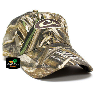 Drake Waterfowl Systems Cotton Logo Ball Cap Hat Realtree Max-5 Camo
