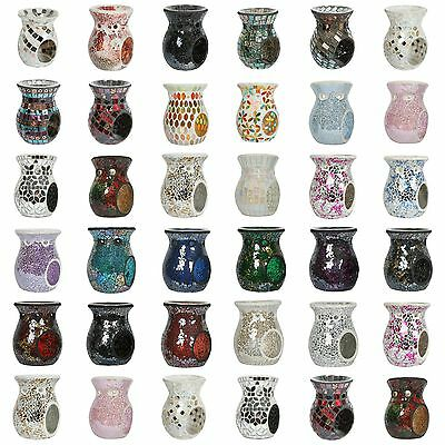 Village Candle Aroma 14cm Mosaic Wax Melt / Oil Burners - Multiple Designs