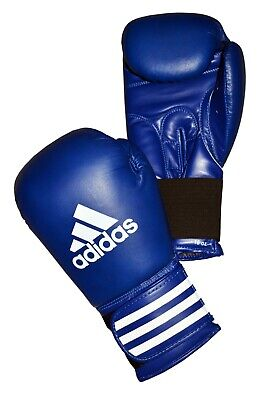 Adidas Performer Leather Boxing Gloves 8 10 12 14 16 18oz Black Blue Red Gym MMA