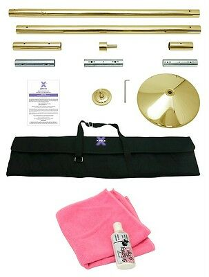 Xpole X-pert NX 45mm Portable Professional Gold Dance X-Pole Mighty Grip Towel