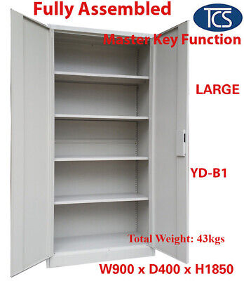 New Fully Assembled 2-Door Shelf Office Filing Storage Locker Cabinet Safe home
