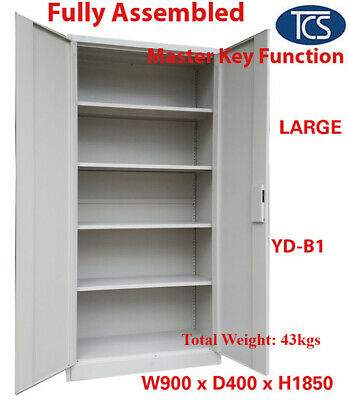 TCS New Fully Assembled 2 Door Office School Home Filing Storage Locker Cabinet