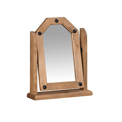 Corona Single Dressing Table Mirror Mexican Solid Pine by Mercers Furniture®
