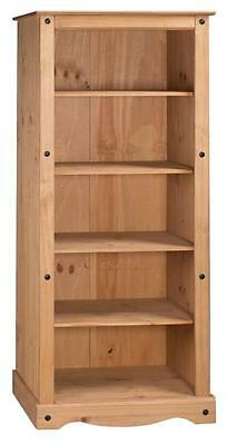 Corona Bookcase Large Tall 5 Shelf Display Unit Solid Pine by Mercers Furniture®