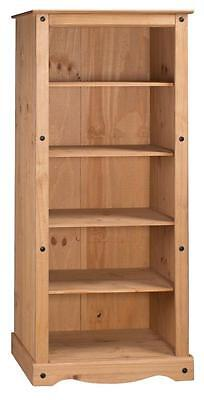 Mercers Furniture® Corona Mexican Pine Large Tall Bookcase