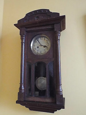 Oak Cased Viola German 1930's Wall Clock.