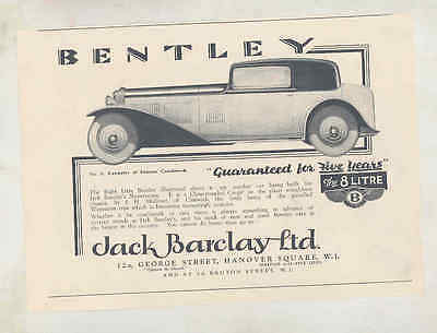 1931 Bentley 8 Liter Mulliner Coupe Ad wu2260