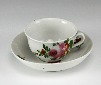 KPM China Germany Floral Rose Cup & Saucer - hand painted floral
