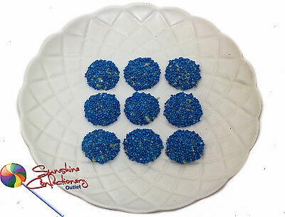 BLUE - SPECKLED WHITE CHOCOLATE JEWELS  -  400 grams - Freckles