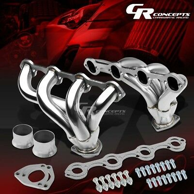 For Ford 351W/5.8 Small Block Hugger Stainless Tight Fit Exhaust Manifold Header