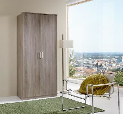 German Oskar 2 Door 90cm Montana Oak 2 Door Tall Wardrobe