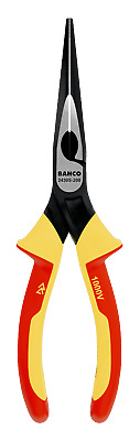 """BAHCO ERGO 200mm 8"""" VDE Insulated SNIPE Long Nose Side Cutter Plier, 2430S200"""