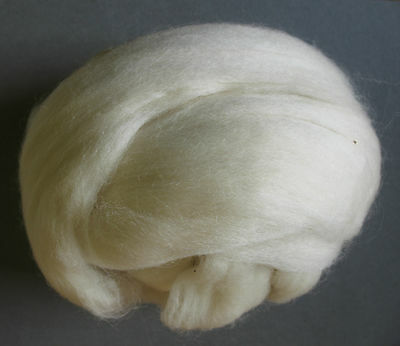 100g Bluefaced Leicester Top / Rovings - White - Felt Making and Spinning