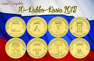 RUSSIA 10 Rublos 2013 Towns of Martial Glory - COMPLET SERIE RUBLES