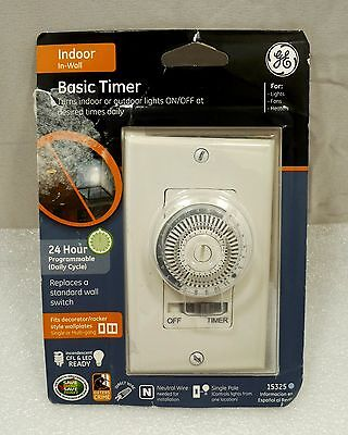 GE 15325 - In Wall Timer White
