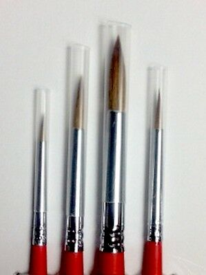 Sable Water colour  Brush Set  4 piece Artist brushes Cosmetic Brushes