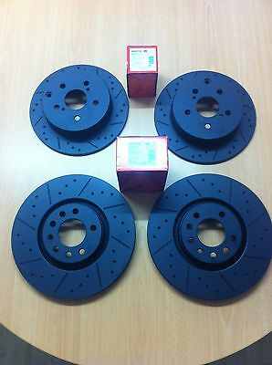 Vauxhall Corsa VXR Front Rear MTEC Black Edition Brake Discs And Mintex Pads
