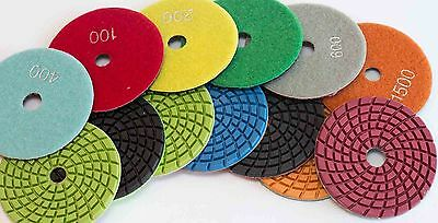 Diamond Polishing Pads 4 inch Wet/Dry  5mm Thick  Granite Concrete Marble Stone