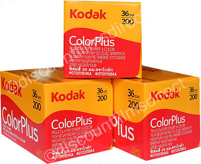 3x KODAK COLOR PLUS 200 35mm 36exp CHEAP COLOUR PRINT CAMERA FILM 1st CLASS POST