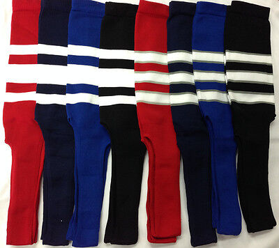 Baseball Stirrups Socks Black Navy Red Royal  with White Stripes Gray Stripes