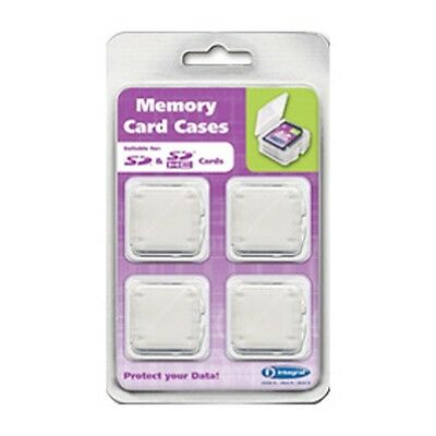 Integral SD/SDHC Memory Card Cases - 4 Pack