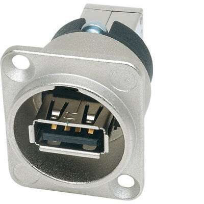 Neutrik Reversible Changer USB B Panel Mount Socket Connector Gender Changer