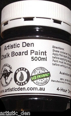Blackboard Paint Chalkboard Paint Black 500ml Menue Board Paint, Chalk Paint