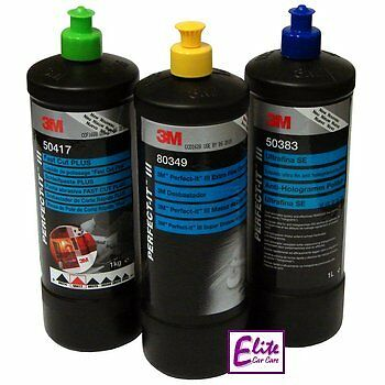 3M Perfect-it III Triple Polish & Compound Set - Fast Cut + Extra Fine Ultrafina