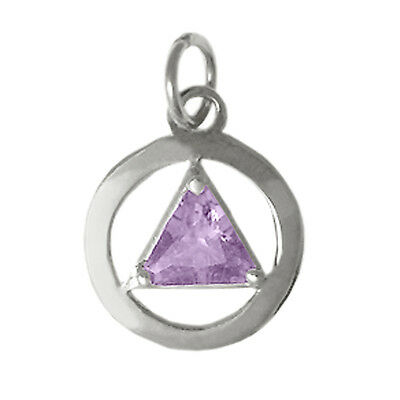 AA Alcoholics Anonymous #278-2, Sterling Silver Pendant Choice of 12 Birthstones
