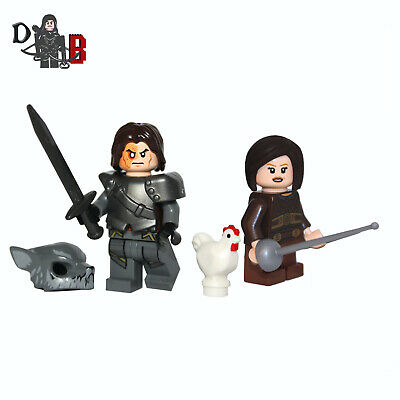Game of Thrones Sandor Clegane The Hound & Arya Made using LEGO & custom parts.