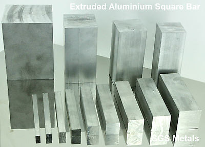 "Aluminium SQUARE BAR 1/4""x 1/4"" - 3""x 3"" Lathe Milling Machine Fly Press MIG TIG"